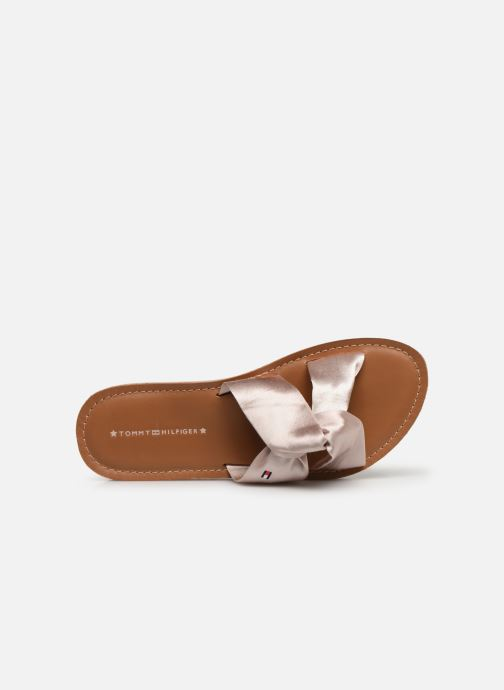 Clogs & Pantoletten Tommy Hilfiger Satin Elevate rosa ansicht von links